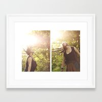 rasta Framed Art Prints featuring Rasta woman by cristinacarrion