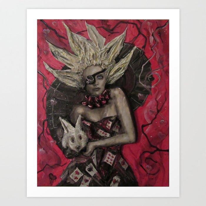 Alice the Queen Art Print