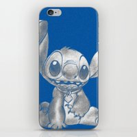 lilo and stitch iPhone & iPod Skins featuring Stitch  by Nic Moore
