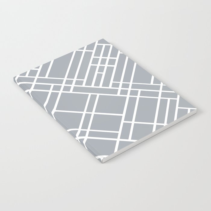 Map Outline Grey 45 Notebook