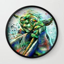 Yoda Painting Wall Clock