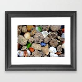 Petoskey Stones lll Framed Art Print