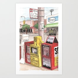 San Francisco Newsstands Art Print