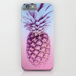 Light Blue and Pink Pineapple iPhone Case