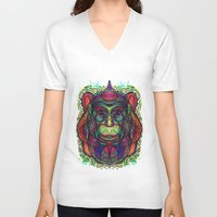 psychedelic V-neck T-shirts featuring Psychedelic by Milena Taranu