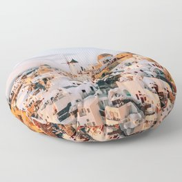 Dreaming at Dusk | Santorini, Greece Floor Pillow