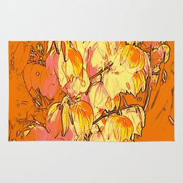 Indian Summer Yucca Flowers Rug