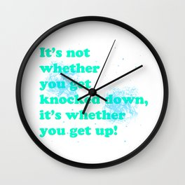 Getting up Wall Clock