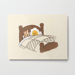 Breakfast In Bed Metal Print