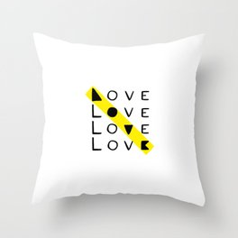 LOVE yourself - others - all animals - our planet Throw Pillow
