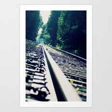 Abandoned LIRR Line at Forest Park in NYC, New York City Art Print