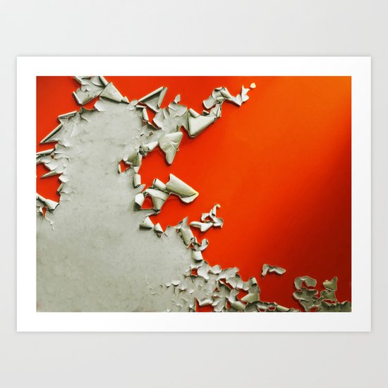 Orange Paper Peel Art Print