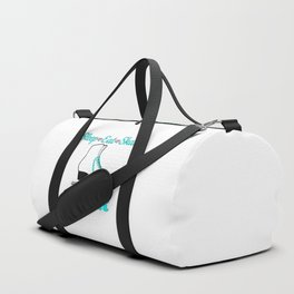Sleep-Eat-Skate-Repeat in Turquoise Duffle Bag