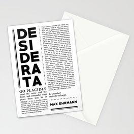 Desiderata by Max Ehrmann - Typography Print 29 Stationery Cards