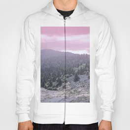 Pink Sunset on Mountains Hoody