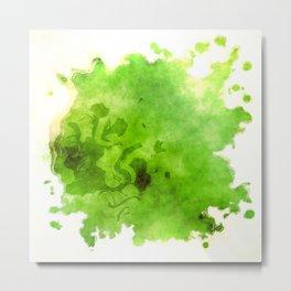 Green on Green Metal Print