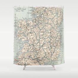 Vintage Map of Ireland (1893) Shower Curtain