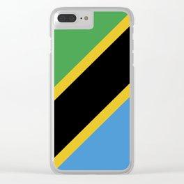 Tanzania flag emblem Clear iPhone Case