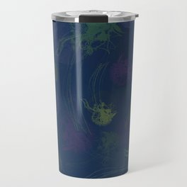 Jellyfish Photo Pop Art Print - Blue, Green and Purple Travel Mug