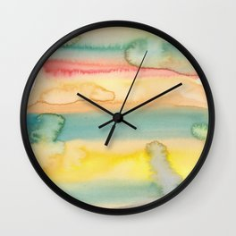 1    | Abstract Minimal Watercolor Painting | 191222 Wall Clock