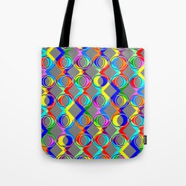 Rainbow Lattice and Circles Tote Bag