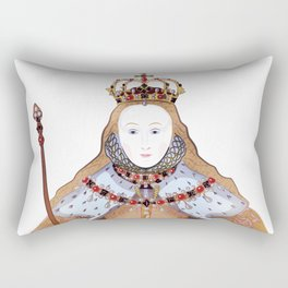 Queen Elizabeth I - historical illustration Rectangular Pillow
