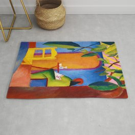 August Macke - Turkish Cafe - Digital Remastered Edition Rug