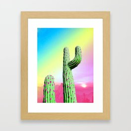 Pastel Cactus Framed Art Print