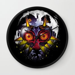 Power Behind the Mask Wall Clock