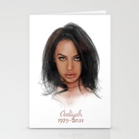 aaliyah Stationery Cards featuring Aaliyah by Tribute Portrait