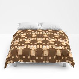 Super cute animals - Cheeky Brown Monkey Comforters