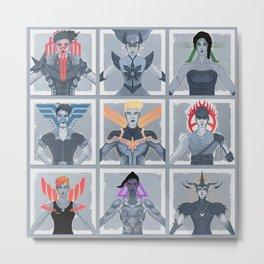 Heroines Metal Print