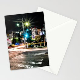 Narita light-trails Stationery Cards