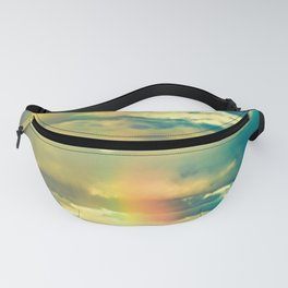 Rainbow Blue Sky Clouds Fanny Pack