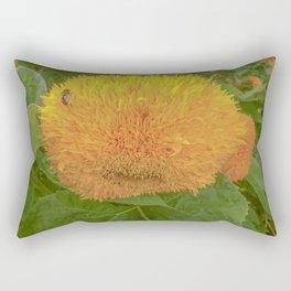 """Sunflower """"Teddy Bear"""" Rectangular Pillow"""