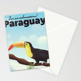 Paraguay Toucan travel poster Stationery Cards