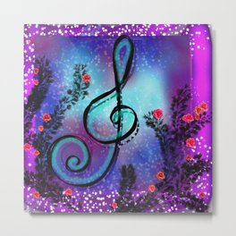 music is your way Metal Print