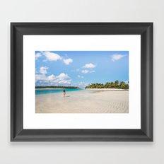 Enjoying the Cook Islands Framed Art Print