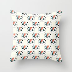 Bowie Panda  Throw Pillow