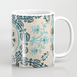 Ferghana Suzani  Northeast Uzbekistan Embroidery Print Coffee Mug
