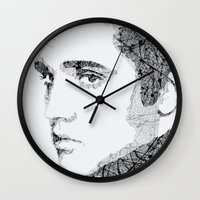 elvis Wall Clocks featuring Elvis by urbanexpressionist
