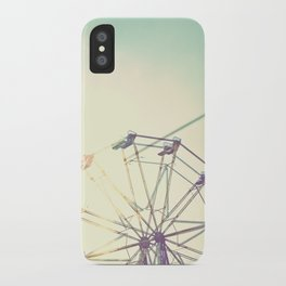 retro ferriswheel iPhone Case