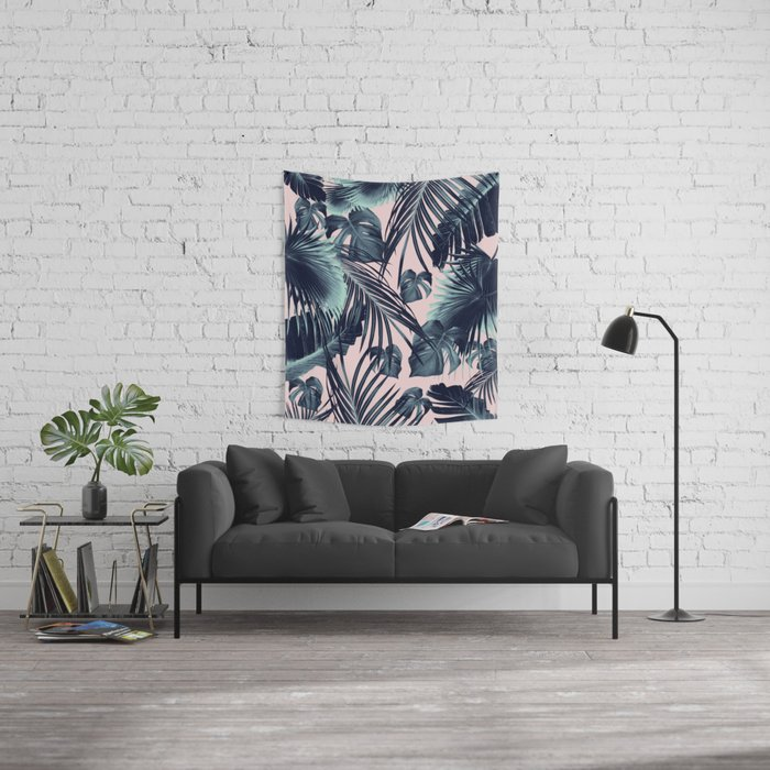 Tropical Jungle Leaves Dream #2 #tropical #decor #art #society6 Wall Tapestry