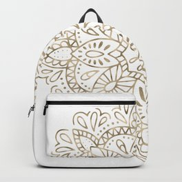 Mandala Gold Backpack