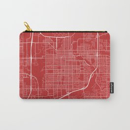 Sioux Falls Map, USA - Red Carry-All Pouch