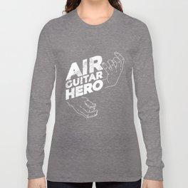 Cartoon Air Guitar Hero Design Long Sleeve T-shirt