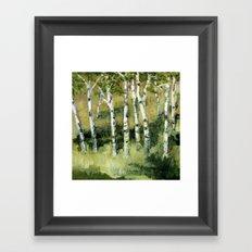 Birches in the Dunes Framed Art Print