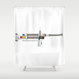 Sci-Fi Laser Rifle Shower Curtain