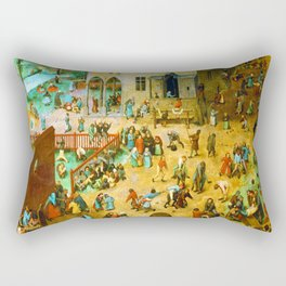 Pieter Bruegel the Elder Children's Games Rectangular Pillow