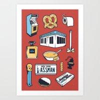 SEINFELD // Tattoo Flash Poster // George Costanza Cosmo Kramer Art Print